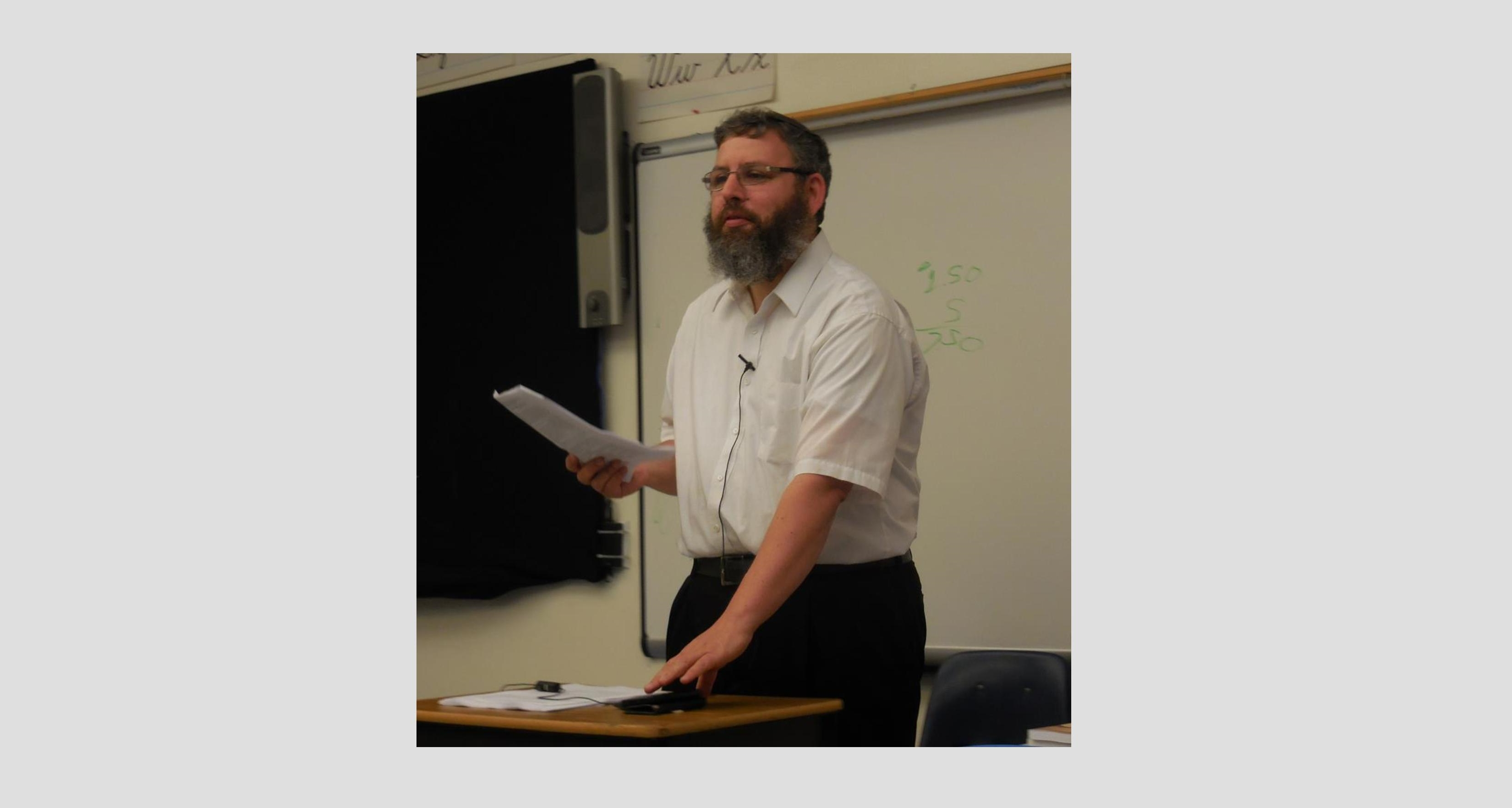 Following Shiur Cancellation, Rabbi Klapper to be Scholar in Residence on the Beren Campus