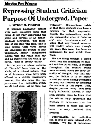 From The Commie Archives: (January 1, 1948; Volume 26, Issue 5) — Maybe I'm Wrong: Expressing Student...